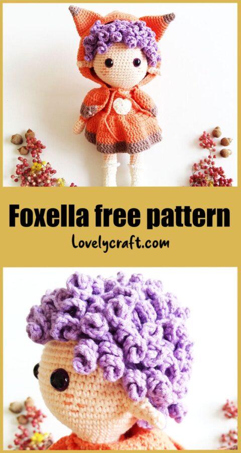 Foxella Fox Girl amigurumi doll free crochet pattern