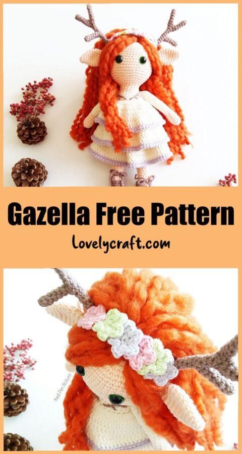 Gazella Deer Girl Doll Amigurumi Crochet Pattern