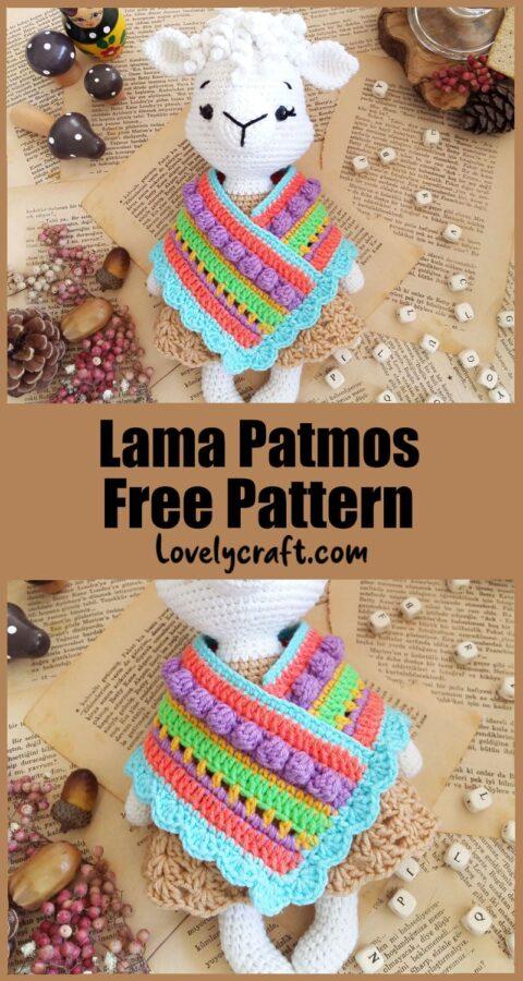 Llama Patmos Amigurumi Crochet Pattern