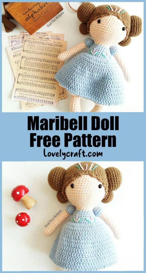 Maribel doll amigurumi free crochet pattern