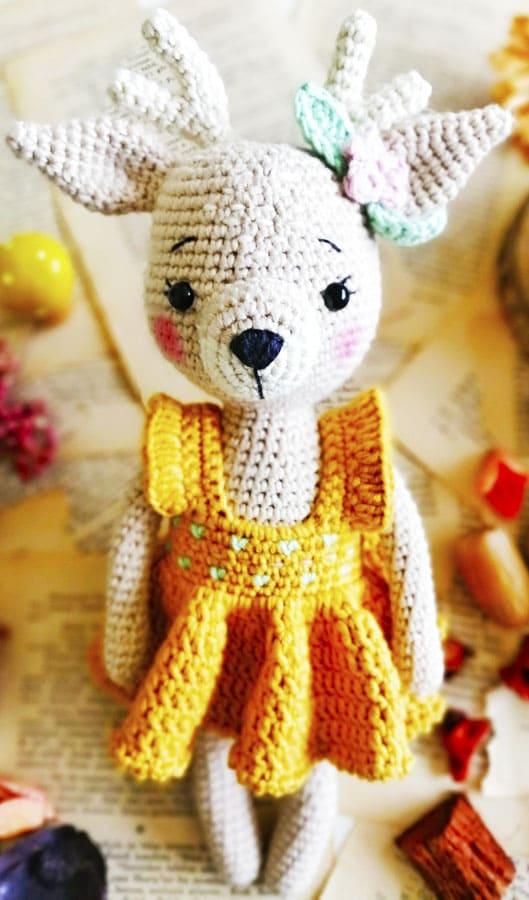 Deer Nenana Amigurumi Crochet Pattern