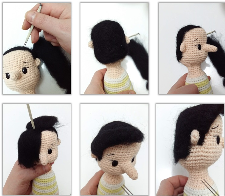 Instruction Images for Hair