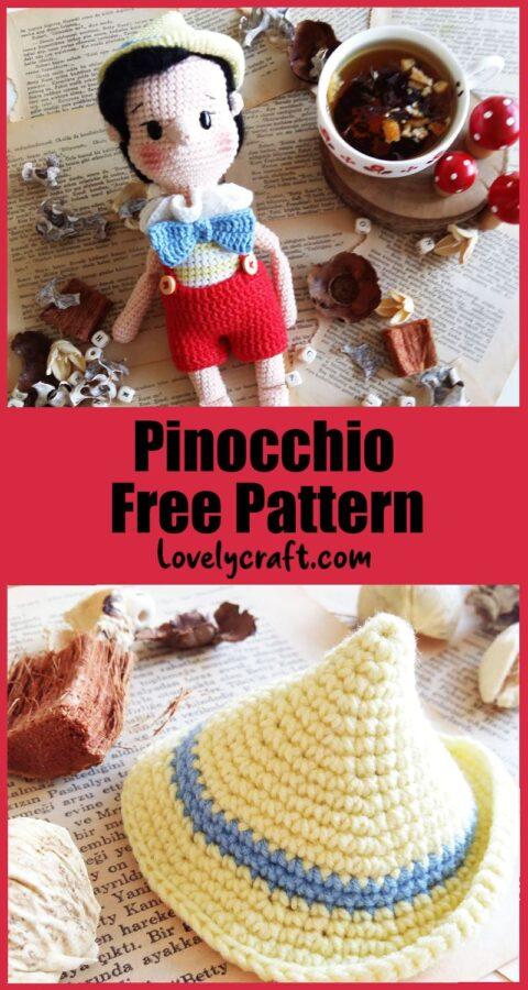 pinoccihio amigurumi crochet free pattern