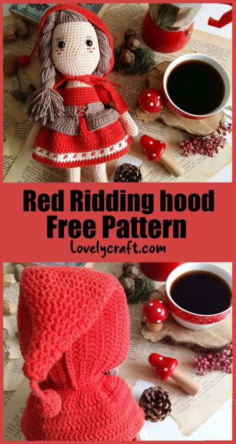 Little Red Riding Hood doll Amigurumi free crochet pattern
