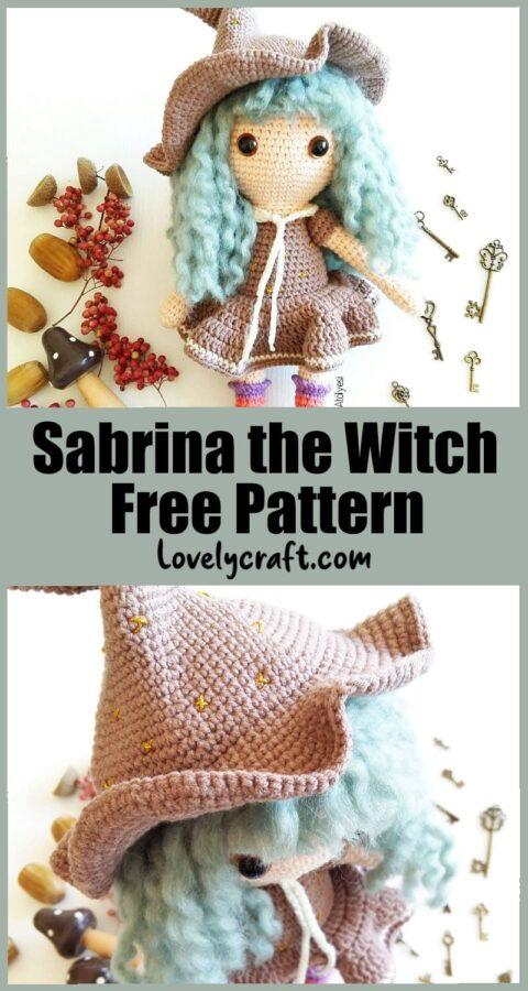 Sabrina the Witch doll amigurumi free crochet pattern