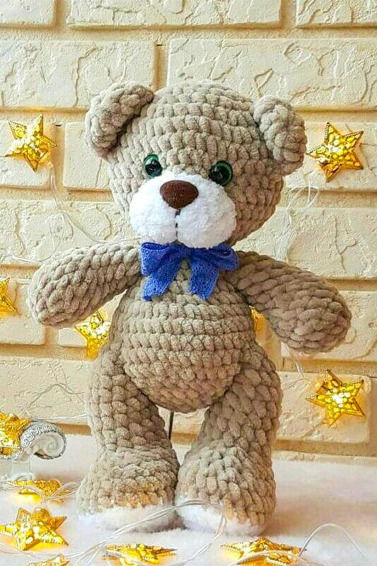 Cute teddy bear amigurumi toy free pattern 01