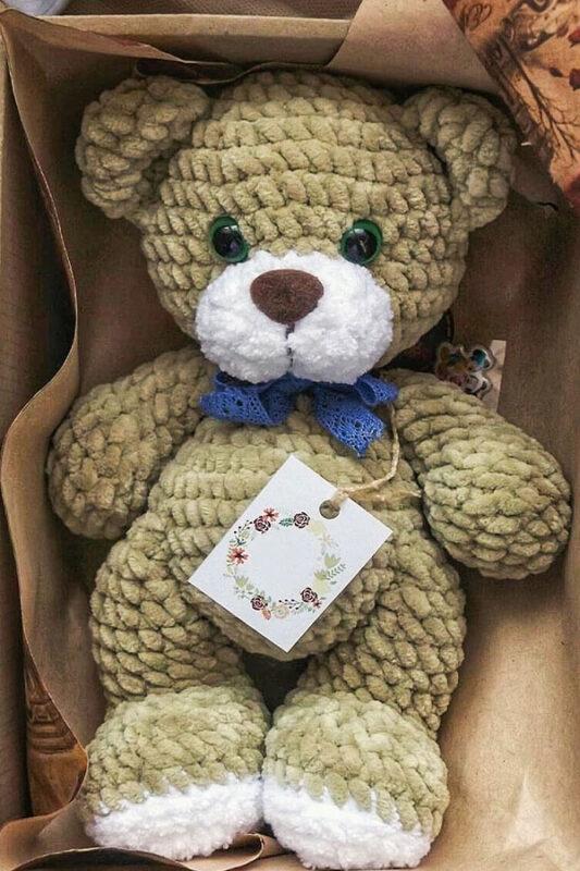 Cute teddy bear amigurumi toy free pattern 02