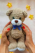 Cute teddy bear amigurumi toy free pattern 04