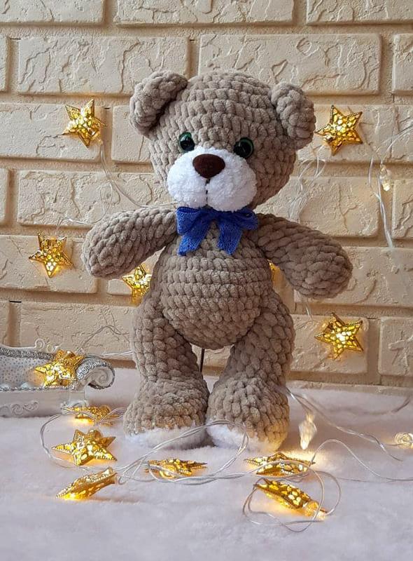 Cute Crochet Teddy Bear Amigurumi Toy Free Pattern (1)