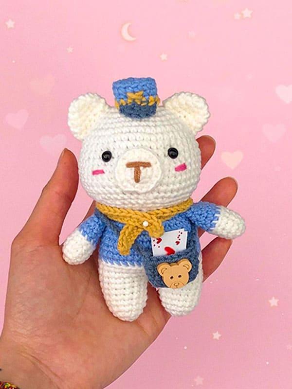 Sam The Post Crochet Bear PDF Free Amigurumi Pattern