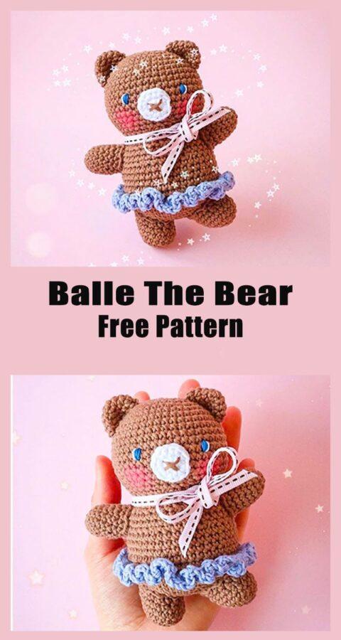 Ballerina Bear Amigurumi Crochet Free Pattern