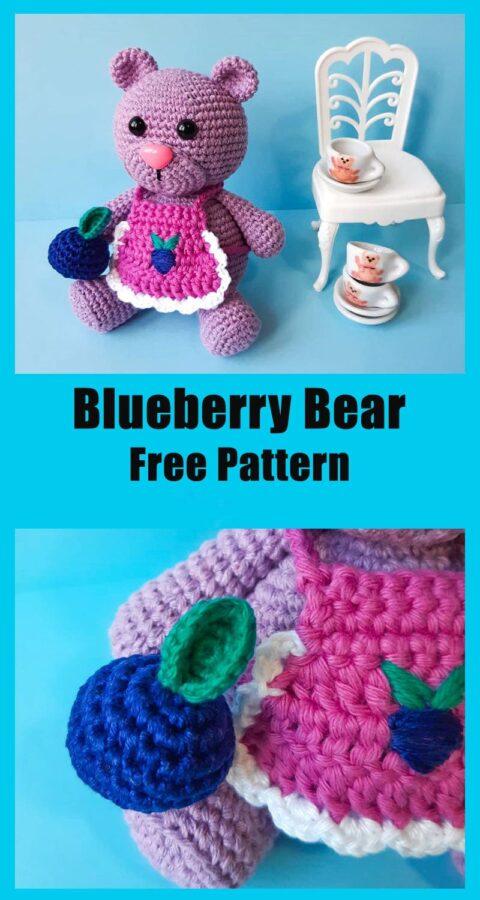 Blueberry Bear Amigurumi Teddy Free Crochet Pattern
