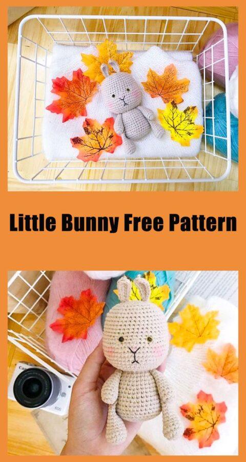 Little bunny amigurumi toy free crochet pattern