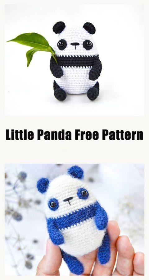 Little Cute Panda Amigurumi Crochet Free Pattern