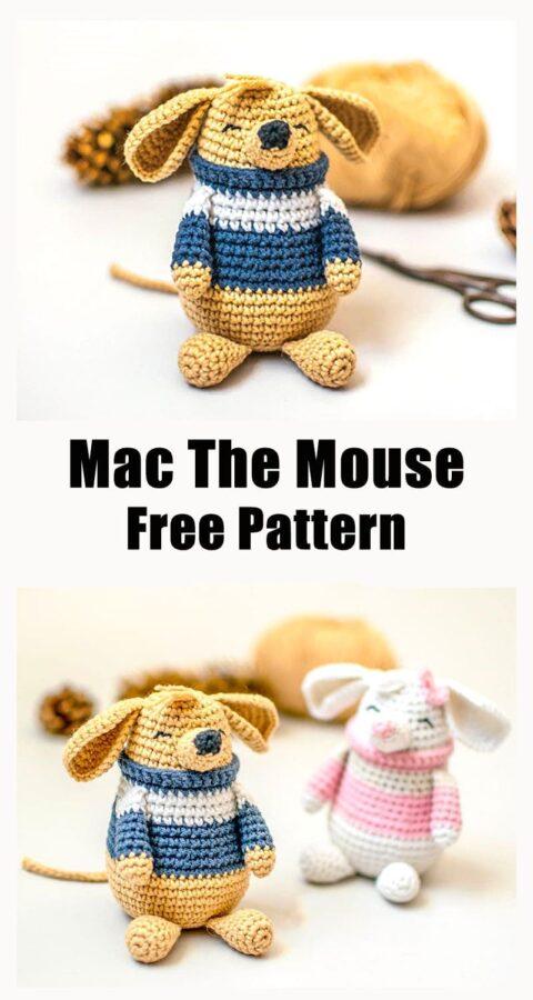 Mac the mouse amigurumi free crochet pattern