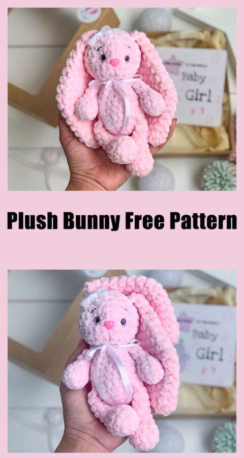 Plush Bunny amigurumi toy crochet free pattern