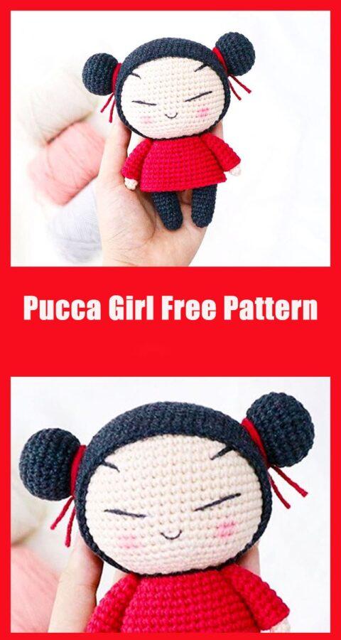 Pucca Girl doll free amigurumi pattern