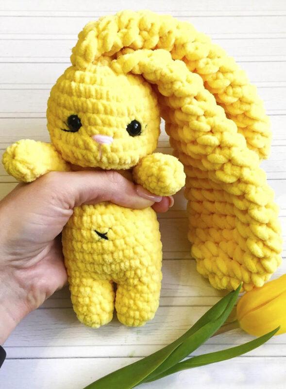 Sunny bunny amigurumi free crochet pattern 2