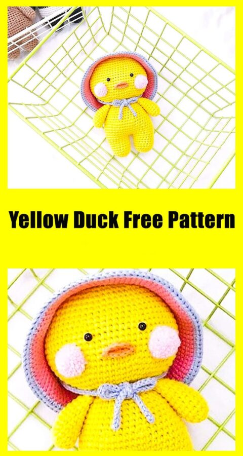 Yellow Duck Amigurumi Toy Free Crochet Pattern