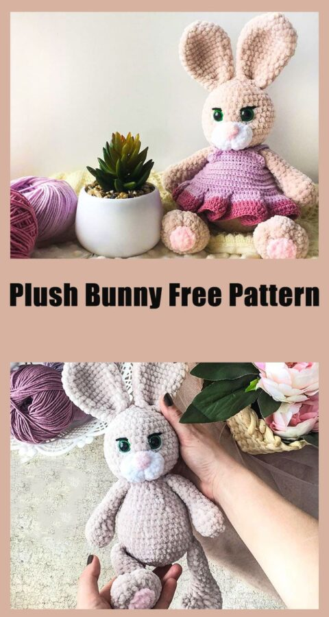 Zaya plush bunny amigurumi free crochet pattern
