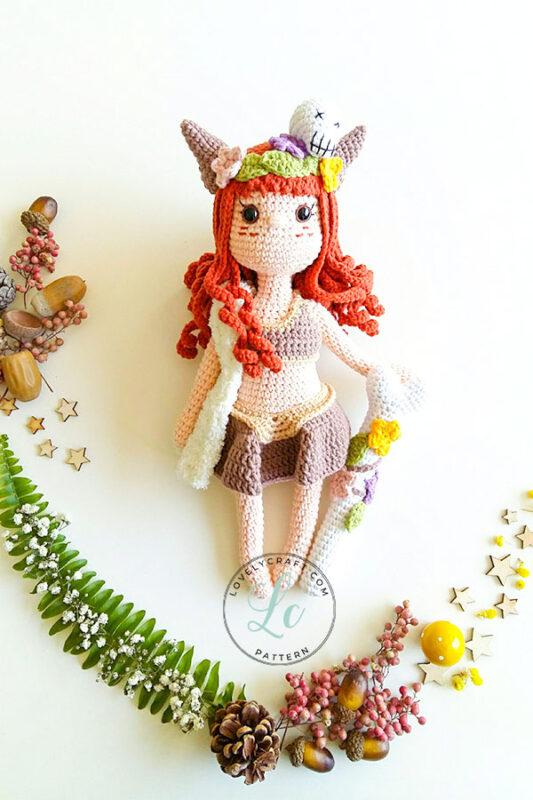 Shaman muur amigurumi doll free crochet pattern