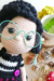 Crove Girl Doll amigurumi free crochet pattern glasses and face