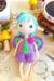 Little fairy pui amigurumi doll free crochet pattern wings green hair