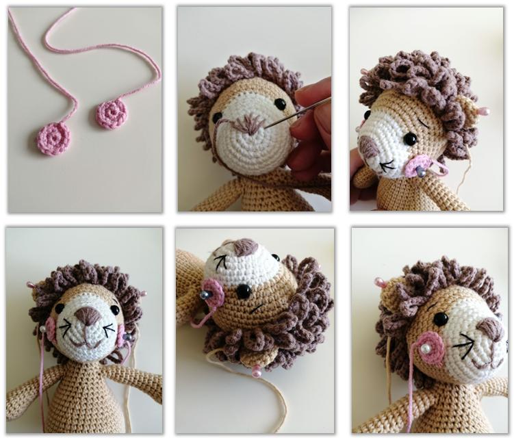 Lion Benroy Amigurumi Crochet Pattern cheeks