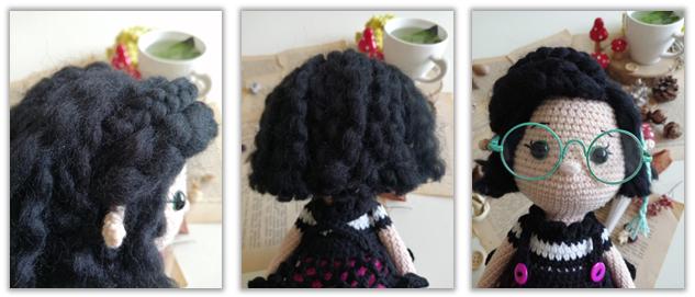 Crove Doll Amigurumi Crochet Pattern hair 2