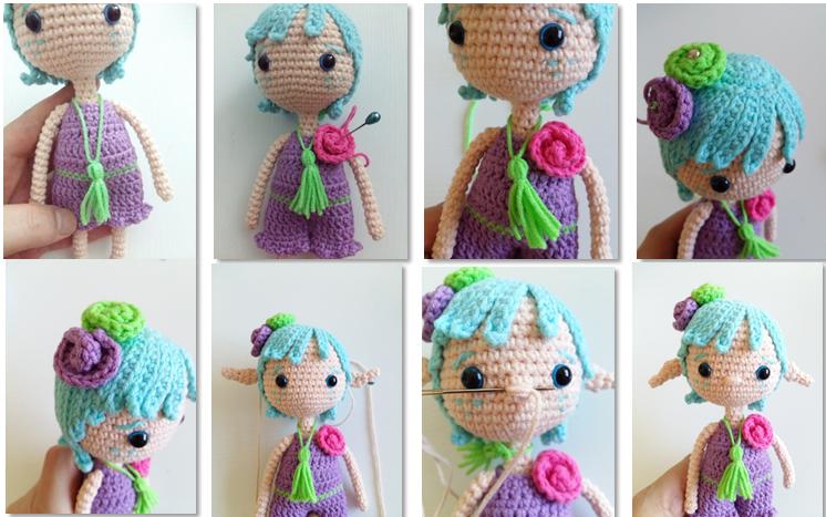 Fairy Pui Amigurumi Crochet Pattern necklace 4