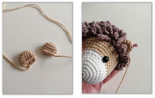 Lion Benroy Amigurumi Crochet Pattern ears
