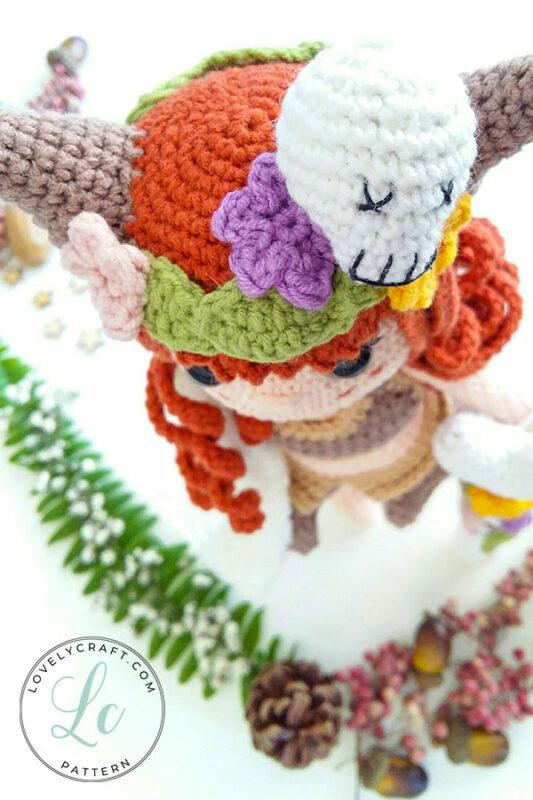 Shaman muur amigurumi doll Accessory head