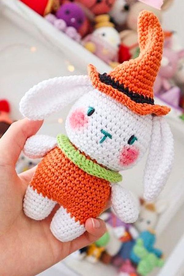 Paso a Paso Personaje De Halloween Mimi Conejito Amigurumi Patrón Gratis 2