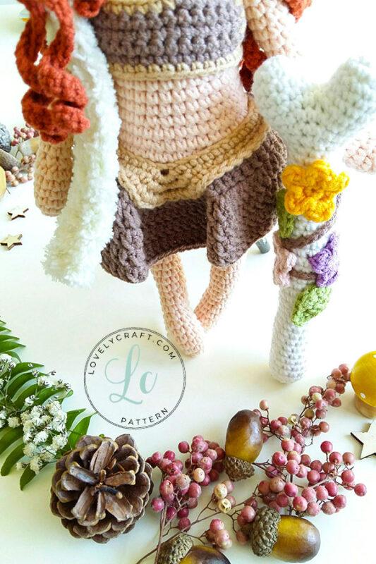 Shaman muur amigurumi doll Accessory skirt and downside