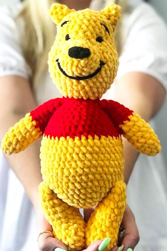 Paso a Paso Winnie The Pooh Oso Amigurumi Patrón Gratis En Español