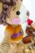 Lion benroy amigurumi toy cheek