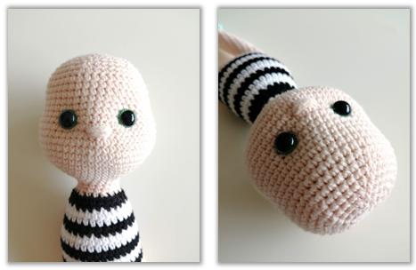 Crove Doll Amigurumi Crochet Pattern head