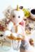 Noorwik viking unicorn elf girl doll amigurumi 25cm size