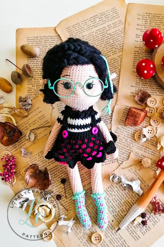 Crove Girl Doll amigurumi free crochet pattern look full size