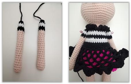 Crove Doll Amigurumi Crochet Pattern arms
