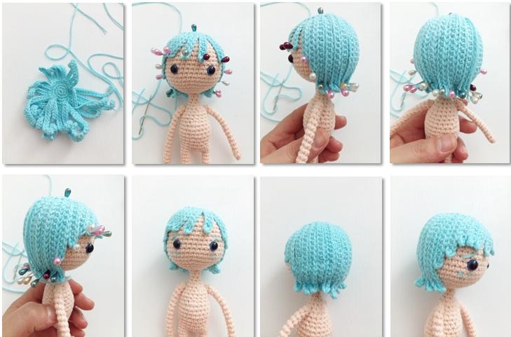 Fairy Pui Amigurumi Crochet Pattern hair