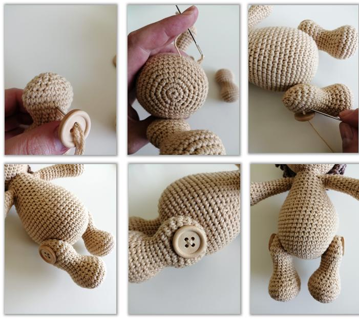 Lion Benroy Amigurumi Crochet Pattern legs2