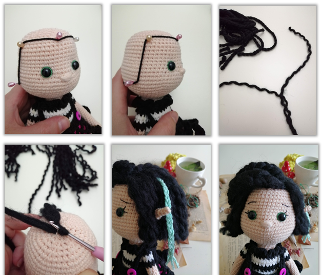 Crove Doll Amigurumi Crochet Pattern hair