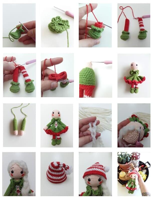 Christmas Crcohet Elf Doll Amigurumi Free Pattern (1)