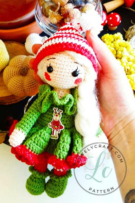 Christmas Crcohet Elf Doll Amigurumi Free Pattern (2)
