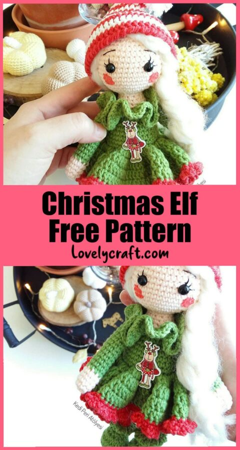 Little elf christmas girl amigurumi doll free pattern