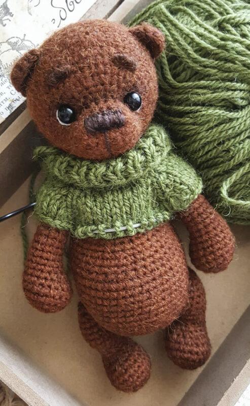 Lovely Bear amigurumi free crochet pattern bead (2)