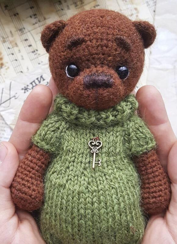 Lovely Bear amigurumi free crochet pattern bead (3)