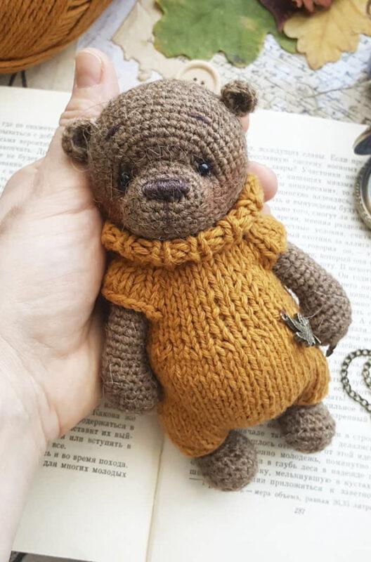 Lovely Bear amigurumi free crochet pattern bead (4)