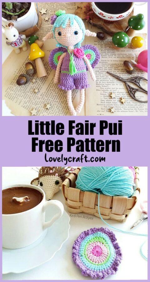 Little fairy pui amigurumi doll free crochet pattern